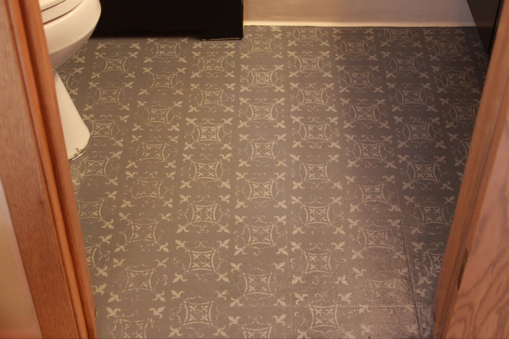 20 best vinyl floor makeovers images on pinterest paint for Paint for linoleum floors in bathroom