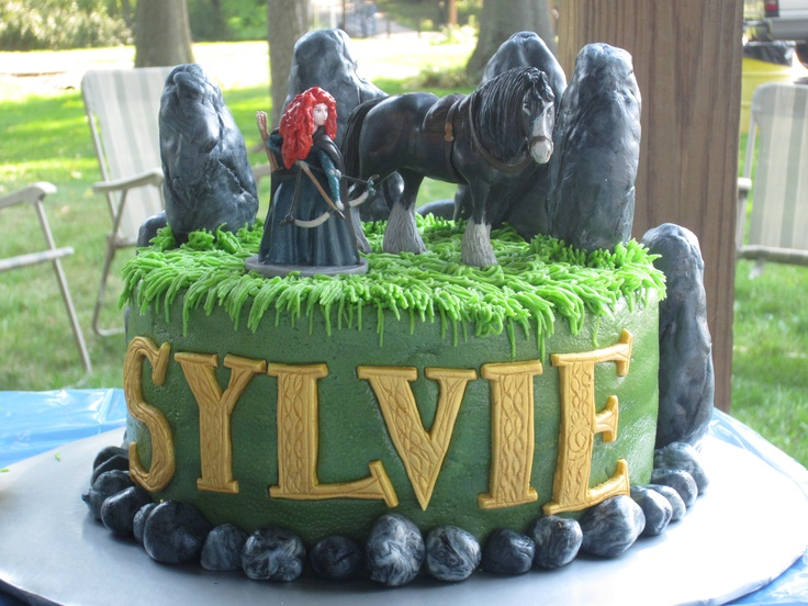 Disney Brave cake figurine close up for birthday party