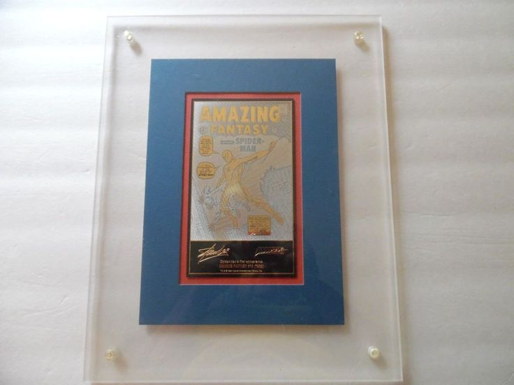 AMAZING FANTASY 15 Acrylic/Matted Plaque 23k Gold Etched Stan Lee Gold Signature