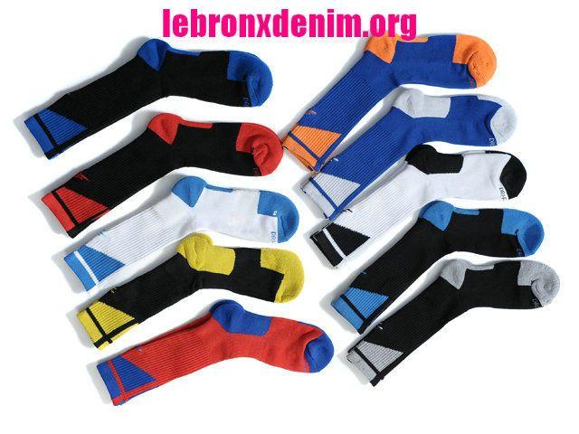 Jordan AJ Dri-Fit Crew Sock Mens 10 Piece Pack [Lebron X Denim 256]
