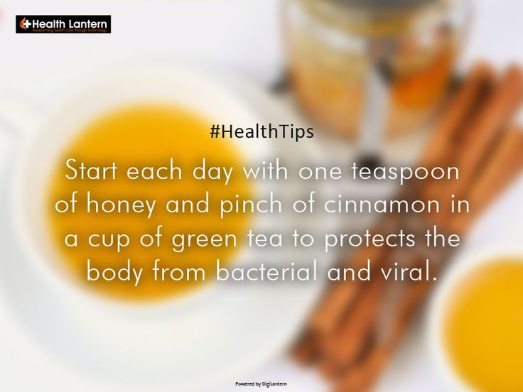 Simple habits like this one can help you miraculously improve your overall health.  #Honey #Cinnamon #GreenTea #AntiBacterial #AntiViral #HealthTips #HomeRemedies