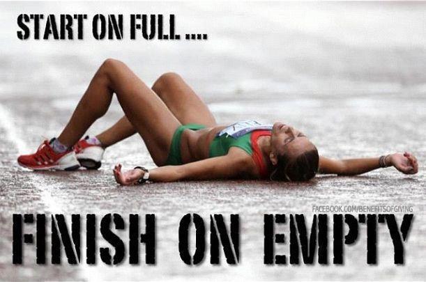 Start on full finish on empty