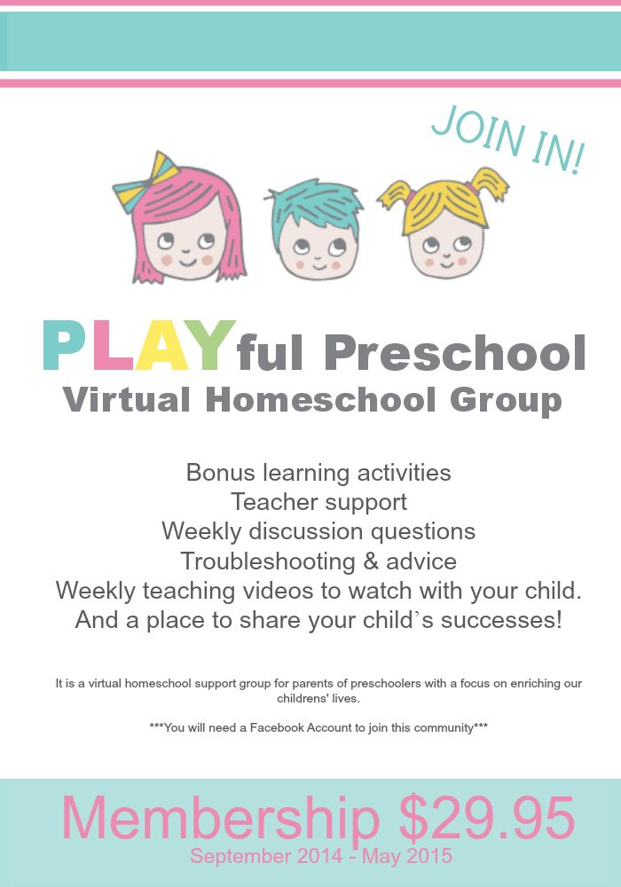 PLAYful Preschool Virtual Homeschool Group | Bambini Travel