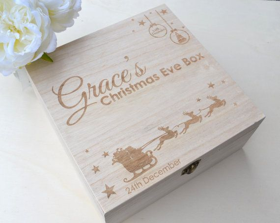 These cute wooden boxes make perfect keepsake Christmas eve boxes to keep the…