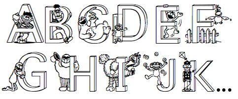 Printable PDF Sesame Street Alphabet anb blank SS stuff
