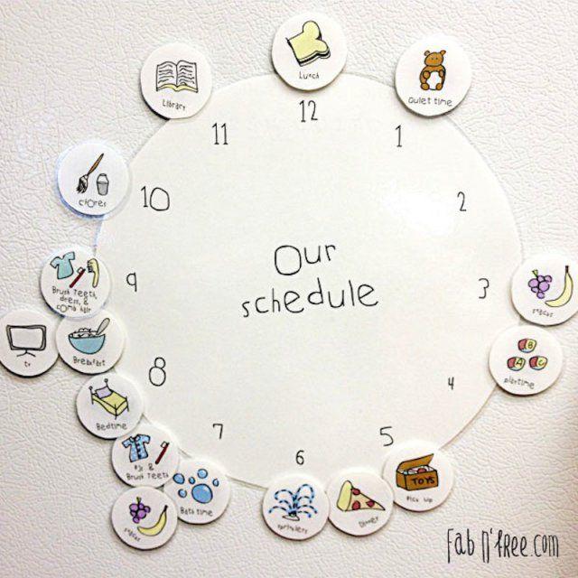 Apprendre avec une horloge personnalisée