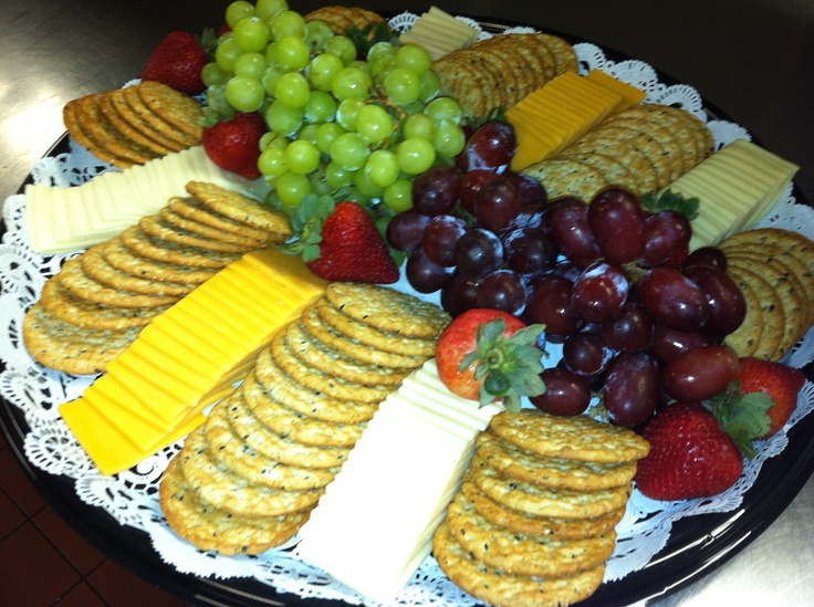 Cheese and cracker tray- 35 servings- May be a bit to much but a good look!