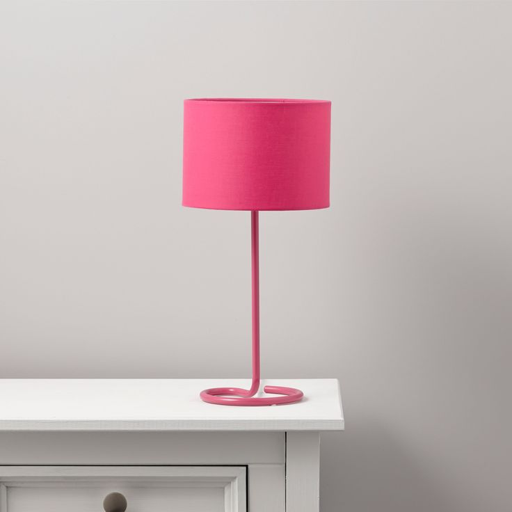 Alexa Curl Base Pink Table Lamp | Departments | DIY at B&Q