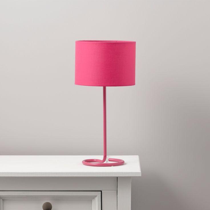 Alexa Curl Base Pink Table Lamp | Departments | DIY at B&Q