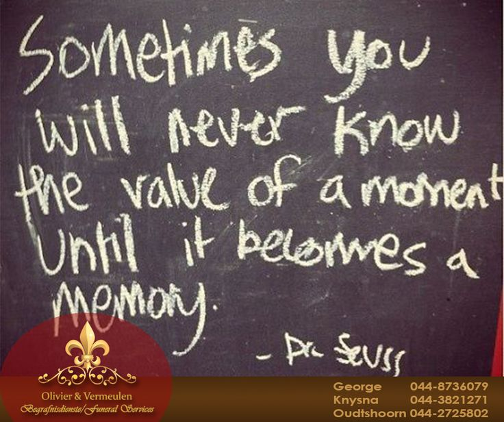 Sometimes you will never know the value of a moment until it becomes a memory - Dr Seuss. #Sundaymotivation #OlivierandVermeulen