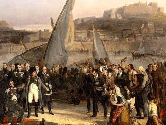Napoléon fait ses adieux aux habitants de l'ile d'Elbe le 26 février 1815 (Joseph Beaume, 1836, chateau de Versailles)