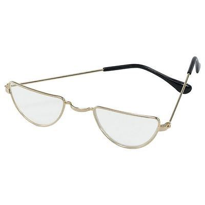 Half moon wizard dumbledore judge #granny  glasses #fancy dress #costume specs,  View more on the LINK: http://www.zeppy.io/product/gb/2/172214351694/