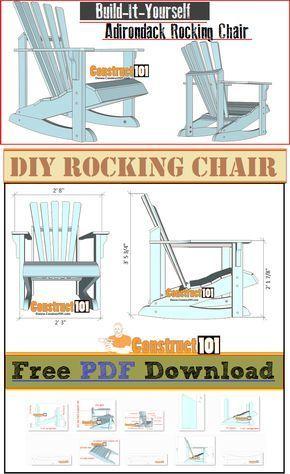 Adirondack Rocking Chair Plans – PDF Download – DIY