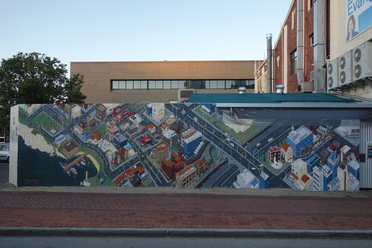 @sherriewilsonprojects  #jesseeleejohns #streetart #mural #perth  http://www.sherriewilsonprojects.com/projects/streetside_festival/