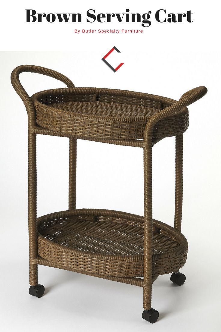 Butler specialty designers edge pevita dark brown serving cart the