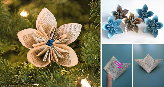 Zapojte do vyzdobovania svojho vianočného stromčeka trochu kreativity a vytvorte si vysiace ozdôbky zo starých novín alebo listov z kníh. Vyzerajú naozaj originálne a dodajú vianočnému stromčeku ten správny šmrnc.
