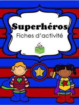 Superhéros fiches d'activités