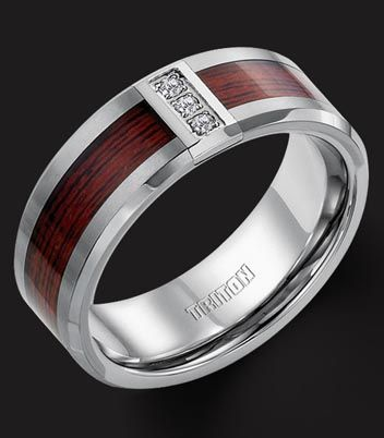 mens rings wood inlay | Home : Catalog Home : Rings : Men's Wedding Bands in Houston, TX