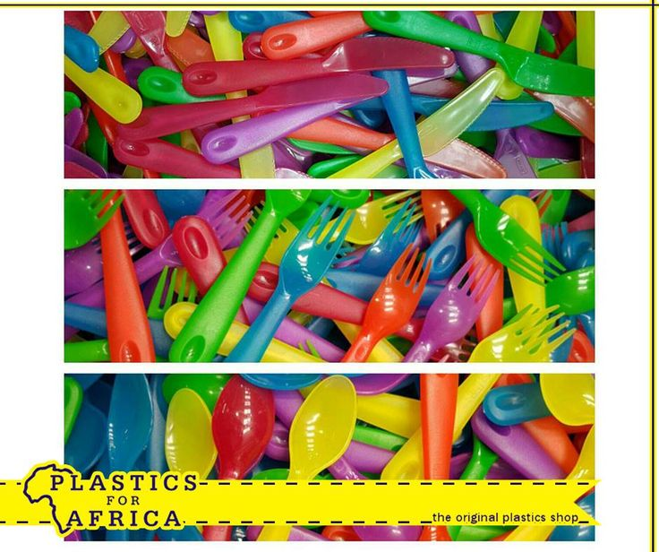This funky cutlery is ideal for the summer picnic basket. Available from #PlasticsForAfrica for only R1.60 each. T's & C's apply, E&OE.