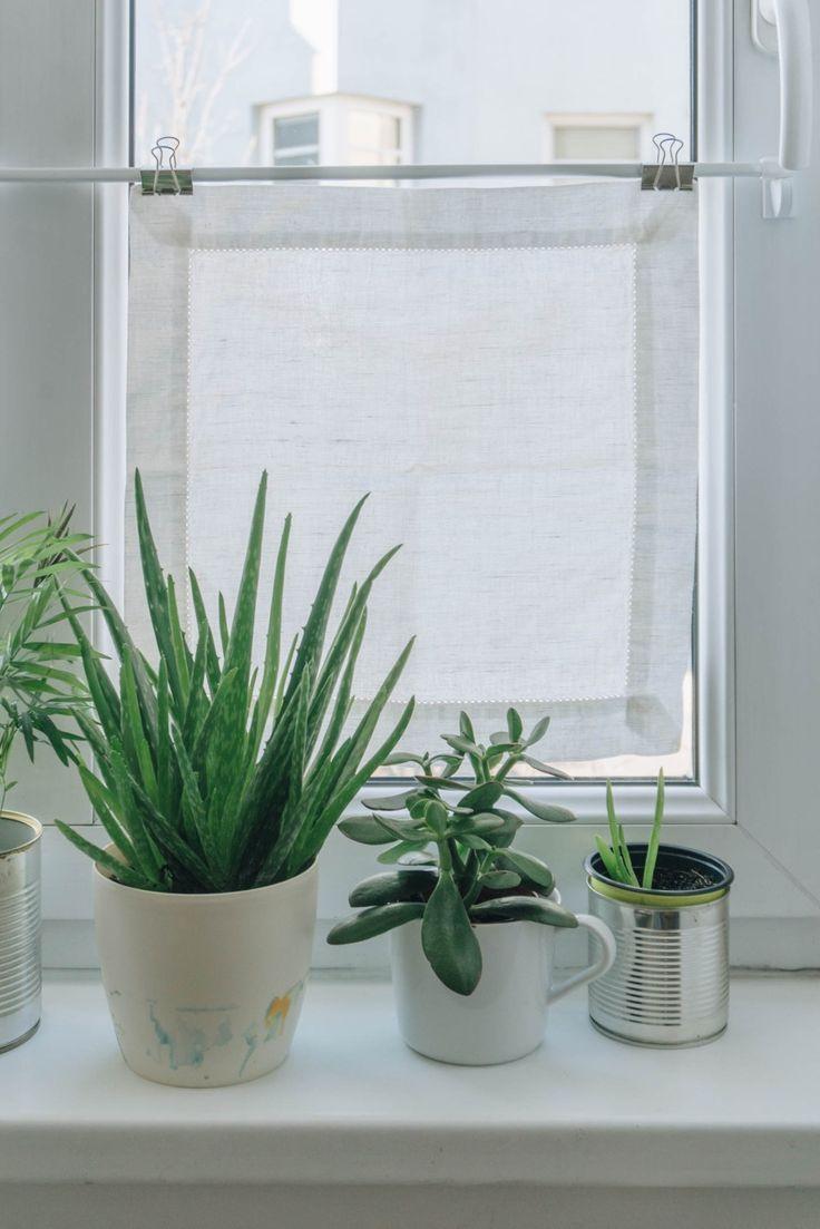 DIY Wohnzimmer DIY Mini Fenster Vorhänge als Sichtschutz ...