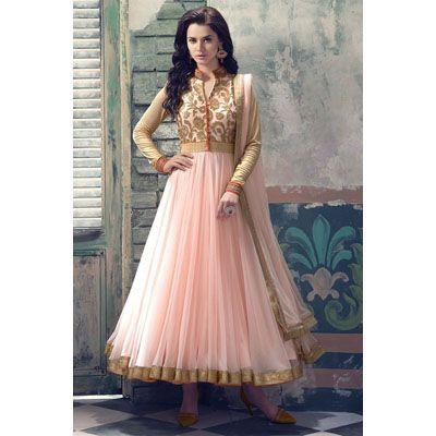 Buy Fabfiza Pink Net Semi Stitched Suit by fabfiza, on Paytm, Price: Rs.1499?utm_medium=pintrest