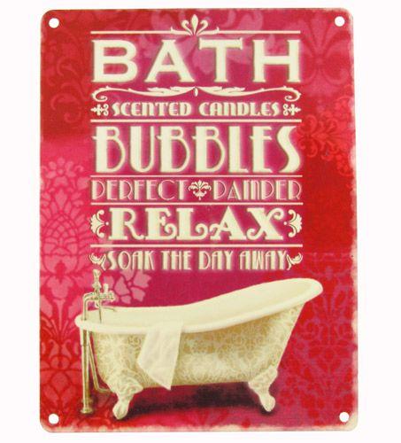 Bath and Bubbles bathroom sign
