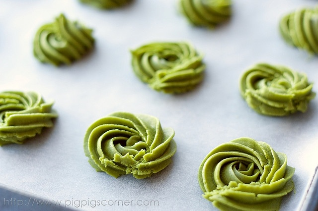 Green Tea Butter CookiesTeas Butter, Recipe, Teas Meeting, Green Teas Cookies, Butter Cookies, Baking, Matcha Cookies, Teas Bags, Cookies Crumble