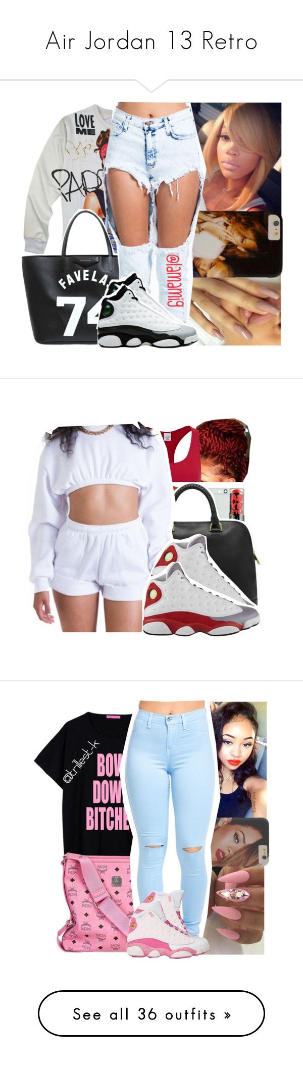 """""""Air Jordan 13 Retro"""" by nasciaboo ❤ liked on Polyvore featuring Givenchy, Retrò, Calvin Klein, grey, redd, whiteee, MCM, Michael Kors, WearAll and beauty"""