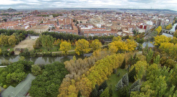 Panorámica de Palencia-dron