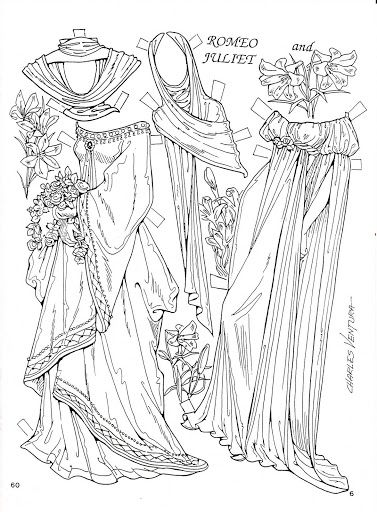 Romeo and juliet coloring pages free ~ 95 best images about Paper Dolls Coloring Art Print Pages ...