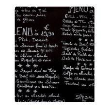 French cafe menu Throw Blanket