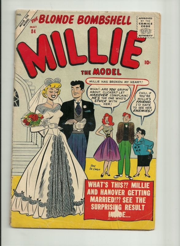 Comic Book Cover Paper : Best millie the model images on pinterest vintage