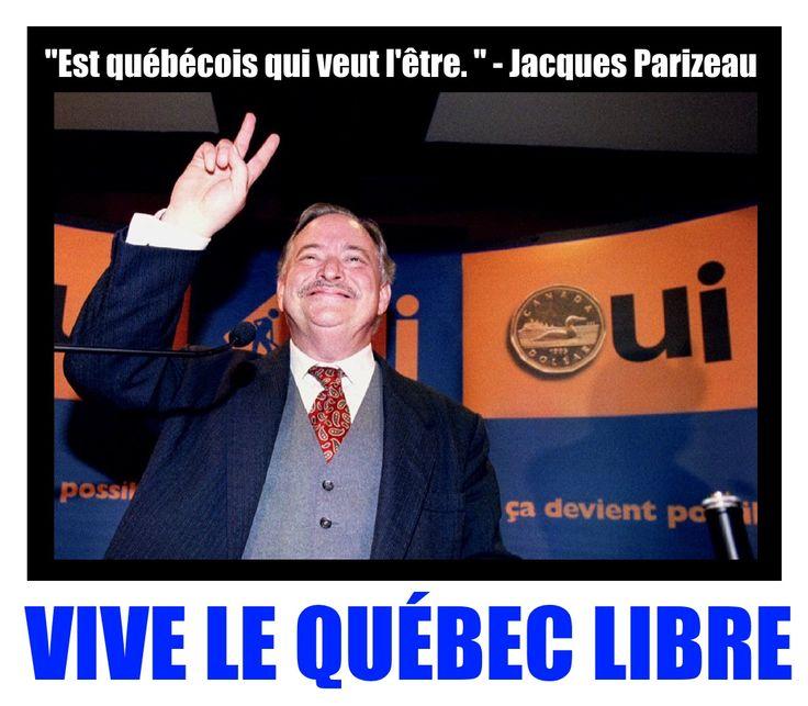 Pierre Bourgault à propos de Jacques Parizeau : «J'aime l'homme aussi bien que l'homme politique. J'aime sa loyauté, son courage, son engagement irréversible. J'aime aussi cette qualité moins apparente qui l'honore, la compassion.»