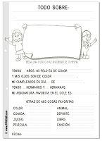 "Ficha ""Todo sobre mi"" lectoescritura niños infantil minúsculas"