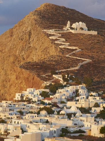 Hilltop church of Panagia in Folegandros