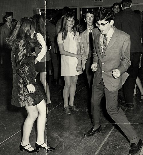 Get down white boy! Dancing in the 60s.