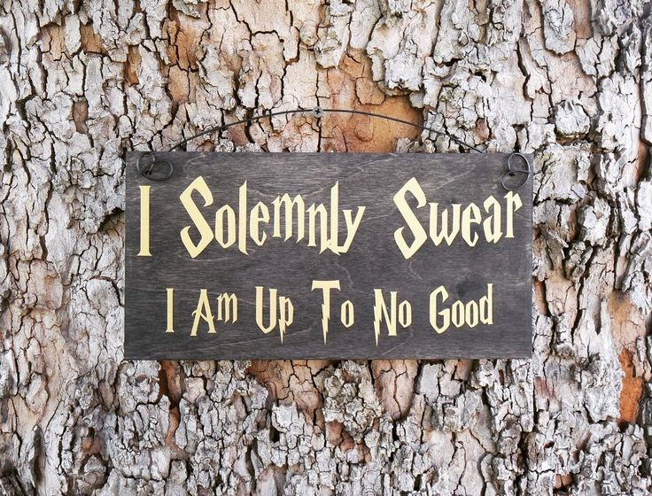 I Solemnly Swear I Am No Good Sign, Harry Potter Sign, Home Decor, Nursery, We Do Geek, Harry Potter Wizards Welcome Sign ** Quickly view this special product, click the image : Handmade Gifts