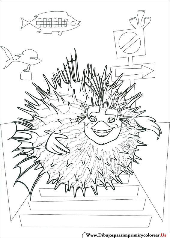 Dibujos de El Espantatiburones para Imprimir y Colorear