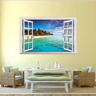 3D Wall Stickers Wall Decals Style The Mediterranean Waterproof Removable PVC Wall Stickers – GBP £ 7.69