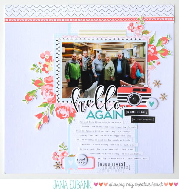 """Happy Monday, friends! I have a quick Layout Share video for you today showing you the projects I made with my Felicity Jane """"Next Stop"""" Kit that I purchased a few months ago. I'v…"""