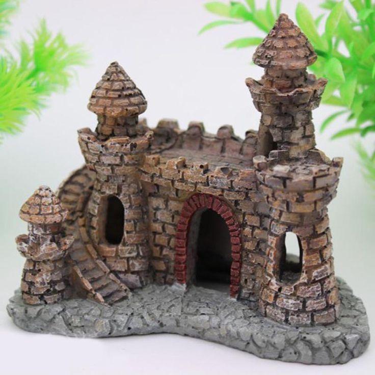 Like if you want this Aquarium Castle Figure     FREE worldwide shipping    https://www.pawsify.com/product/aquarium-castle-figure/