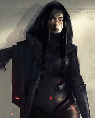 Concept artist Kevin Macio created this Star Wars fan art of a female Sith  Lord. If this character is from the now defunct extended universe, the  artist doesn't say. It's a really cool character design nonetheless. Since  that trailer for Star Wars: The Force Awakens was unleashed on the world  there has been a massive wave of fan art and videos for the legendary saga.  A lot of it has been really good, so I'll keep it coming!