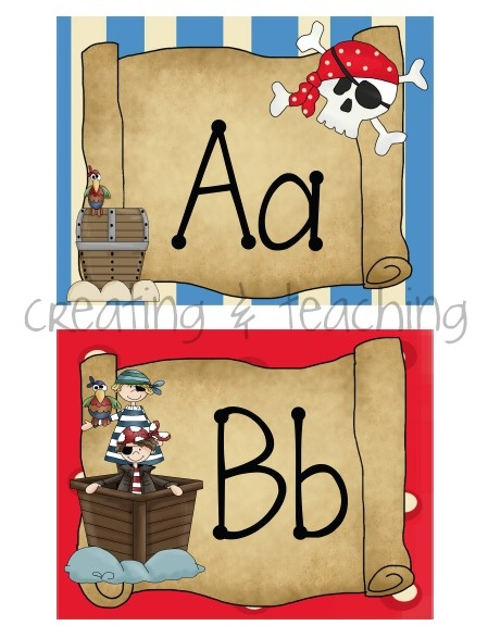 creating & teaching: Pirate Word Wall Cards