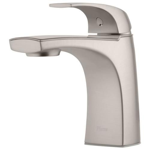 Pfister Karci Spot Defense Brushed Nickel 1 Handle Single Hole Watersense Bathroom Sink Faucet With Drain And Deck Plate Lowes Com Sink Faucets Bathroom Sink Faucets Water Sense