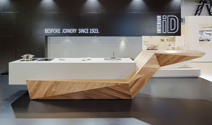 INTERIOR-iD bespoke Kitchen island unit, created for 100% Design Show