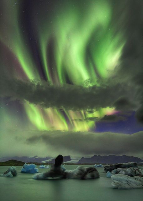 Aurora Borealis - Jokulsarlon, Iceland
