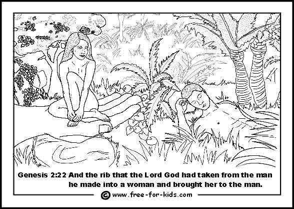 coloring pages garden of eden - photo#7