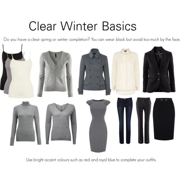 Clear Winter Basics - I don't know about the gray for me