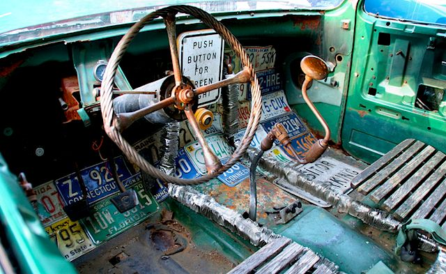 rat rod interior pictures | Auto Upholstery - The Hog Ring - Rat Rod Interior