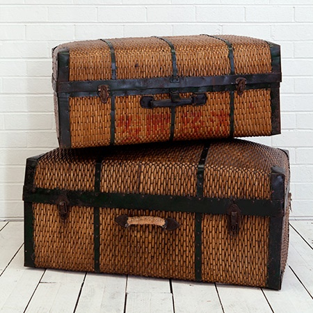 Rattan Trunks  Great for storage, decor, and just looking like you're a world traveling Polynesian connoisseur of awesomeness.